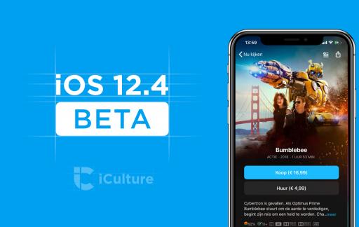 iOS 12.4 beta.
