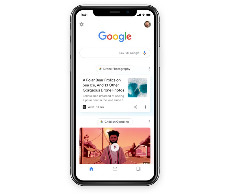 Google Discover op iPhone