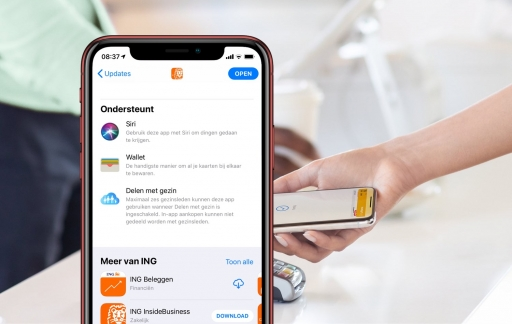 ING-app met Wallet voor Apple Pay.