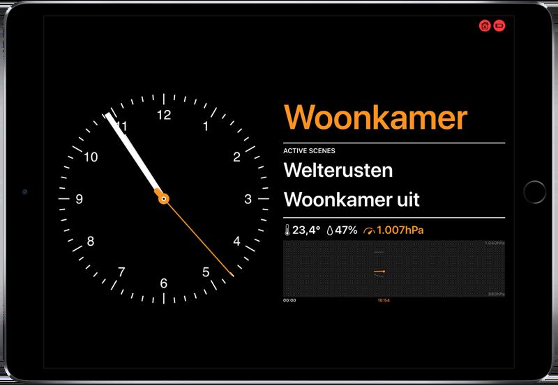 Wallflower voor HomeKit op iPad.