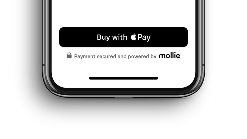 Mollie met Apple Pay in een app betalen.