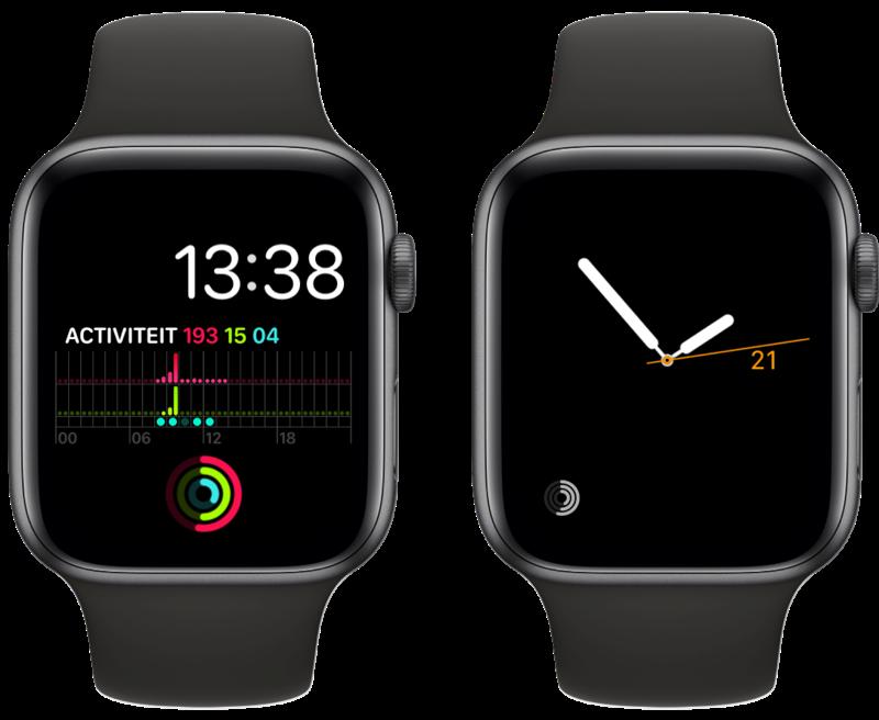 Activiteit-complicatie op Apple Watch.