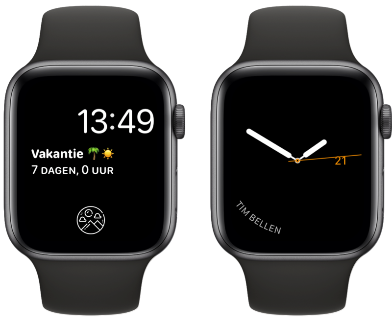 Complicate It-complicatie op Apple Watch.