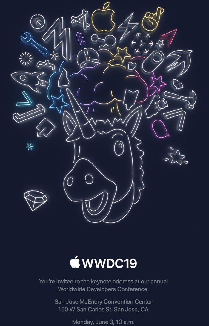 WWDC 2019 keynote uitnodiging media