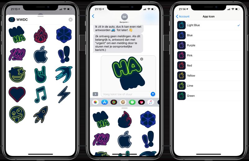 WWDC-app met neon-update