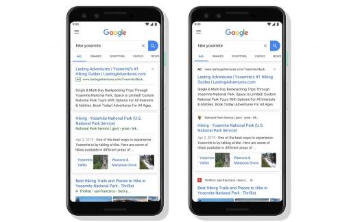 Google vernieuwt mobiele zoekpagina.