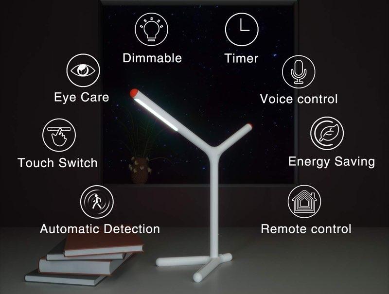 iHaper bureaulamp functies