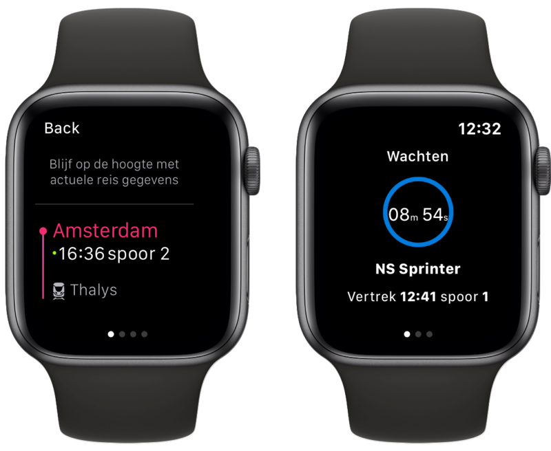 NS en NS International op Apple Watch.