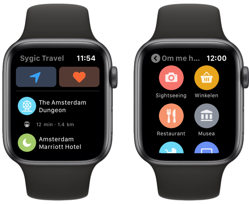 Sygic Travel reisplanner op Apple Watch.