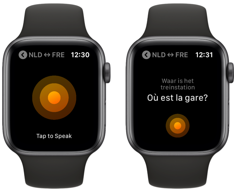 iTranslate Converse op Apple Watch.