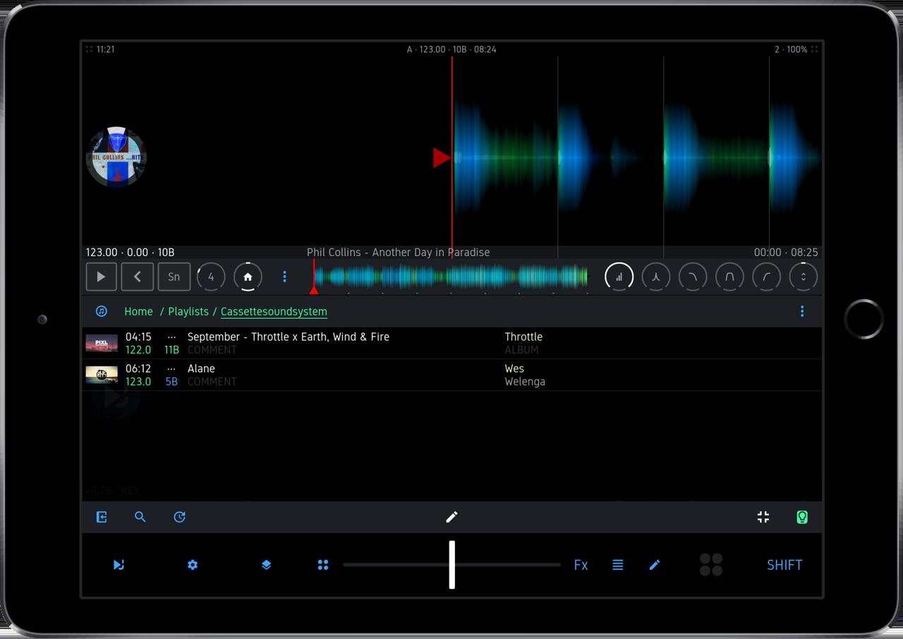 DJ Player Pro op iPad