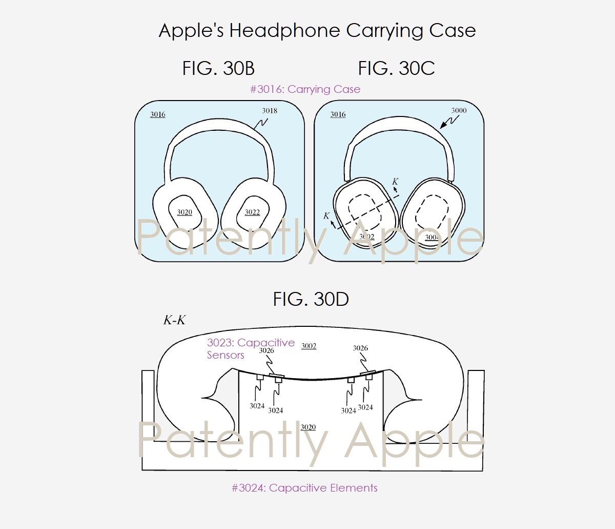 Apple koptelefoon opbergdoos in patent.