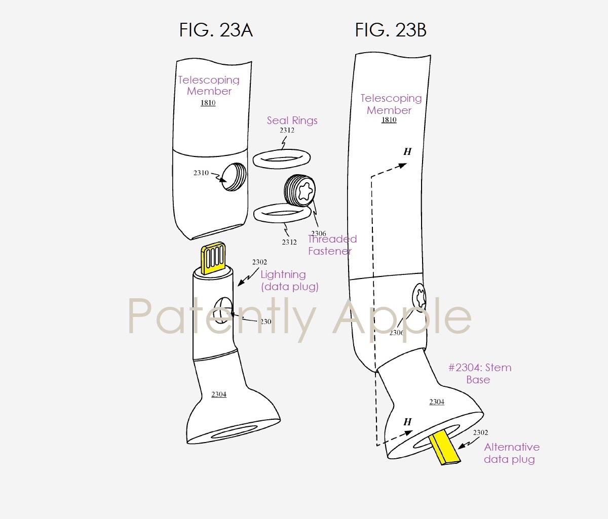 Apple koptelefoon onderdelen in patent.