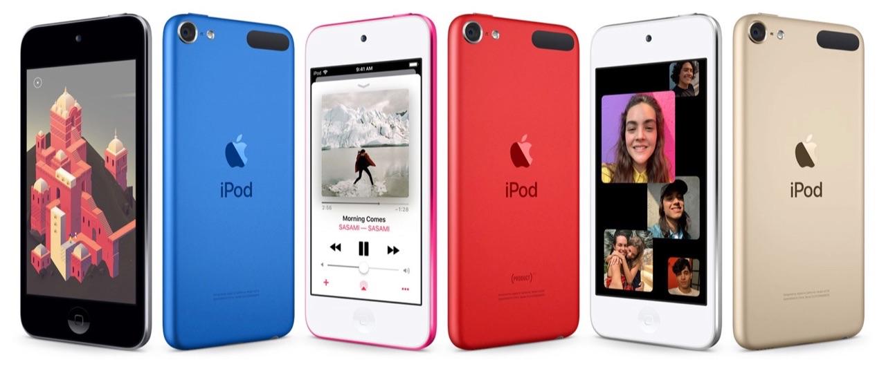 iPod touch 2019 kleuren.