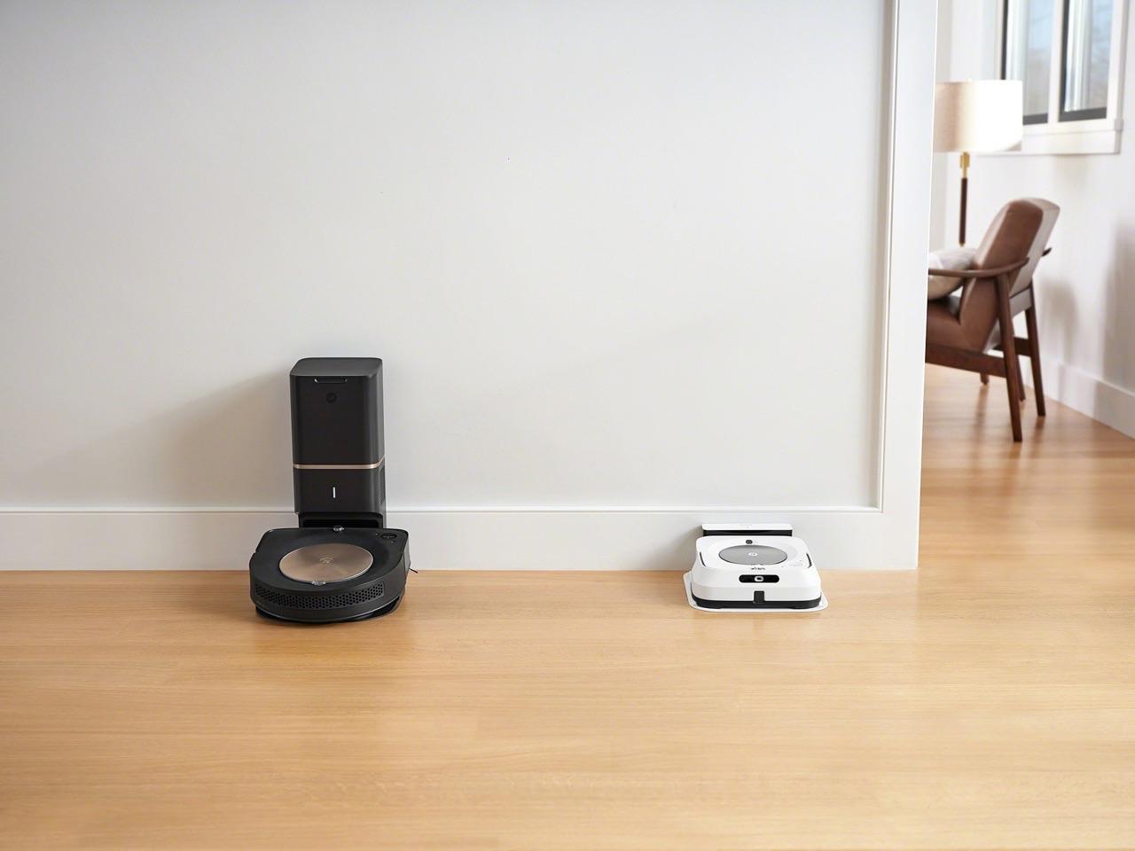 iRobot Roomba S9+ en Braava jet m6 dweilrobot.
