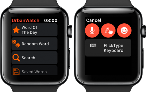 UrbanWatch-app op Apple Watch