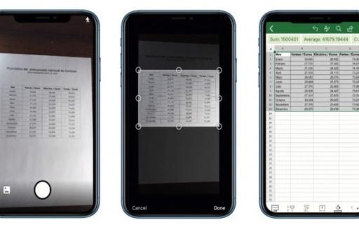 Excel iOS spreadsheet scannen