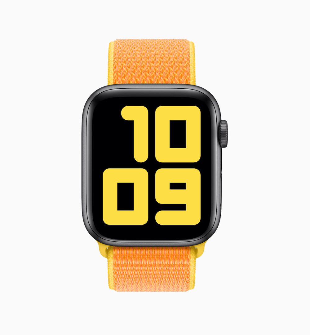 Apple Watch geweven sportbandje kanariegeel