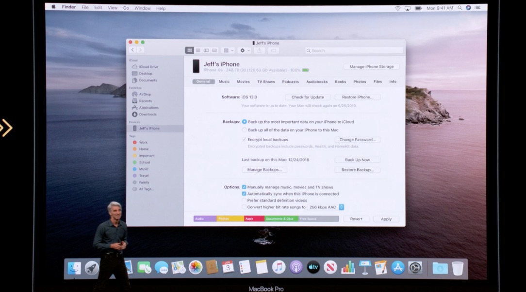 Finder in macOS Catalina.