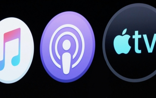 Apple Music, Podcasts en TV-app op macOS.