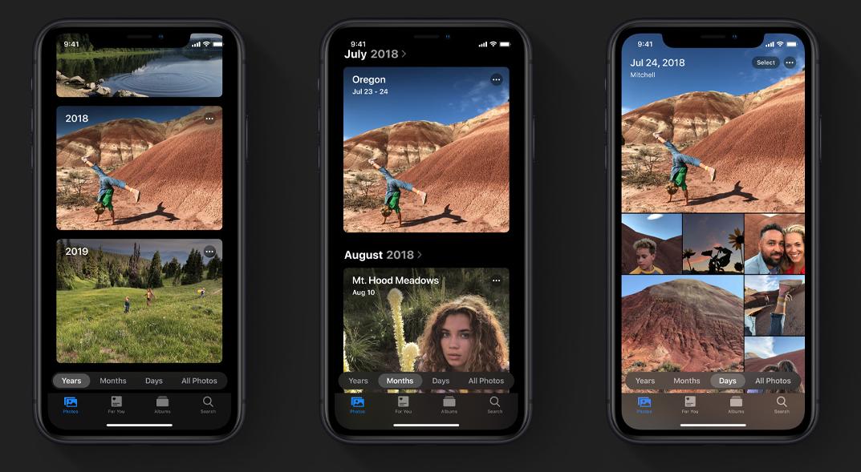 iOS 13 Foto's app