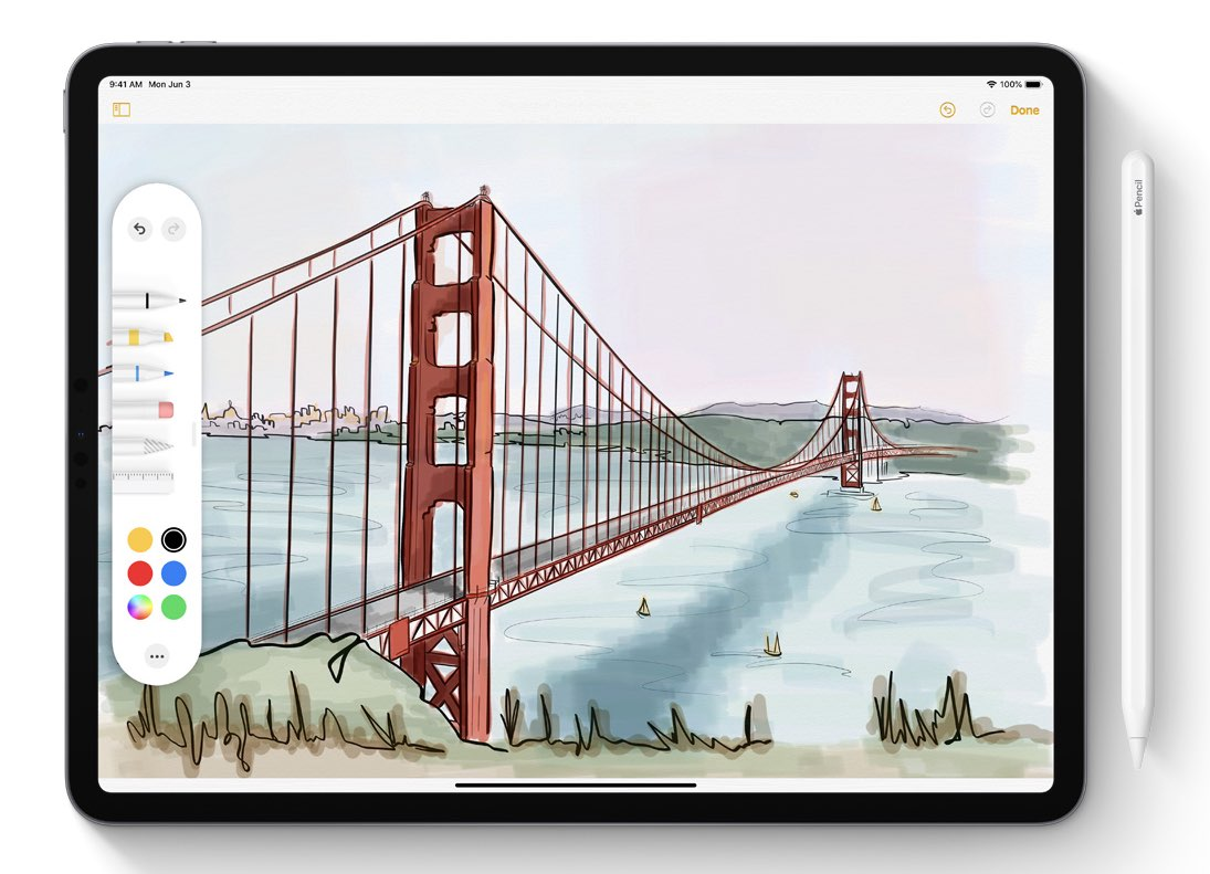 iPadOS Pencil functies