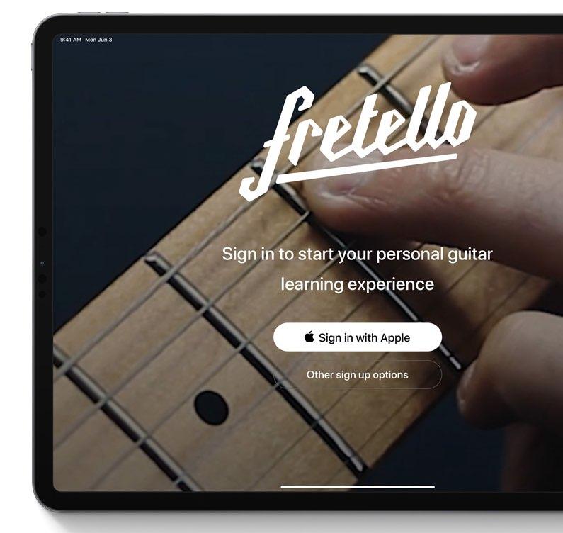 Inloggen met Apple in iPadOS
