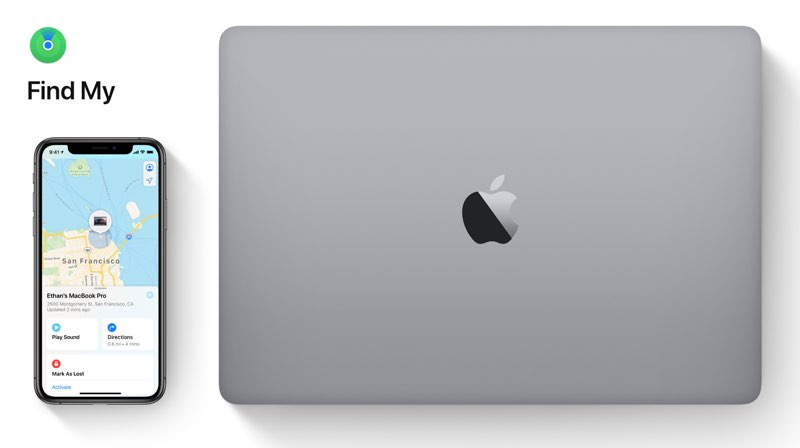 Find My: MacBook zoeken