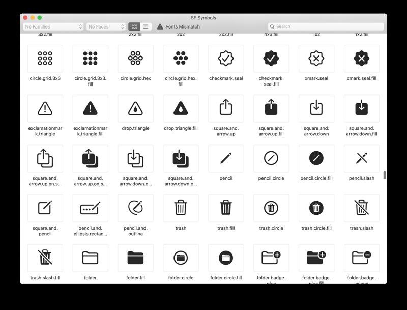 SF Symbols app