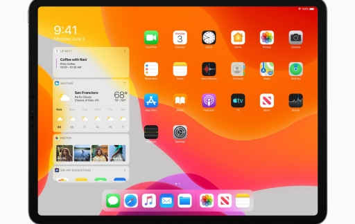 iPad homescreen licht