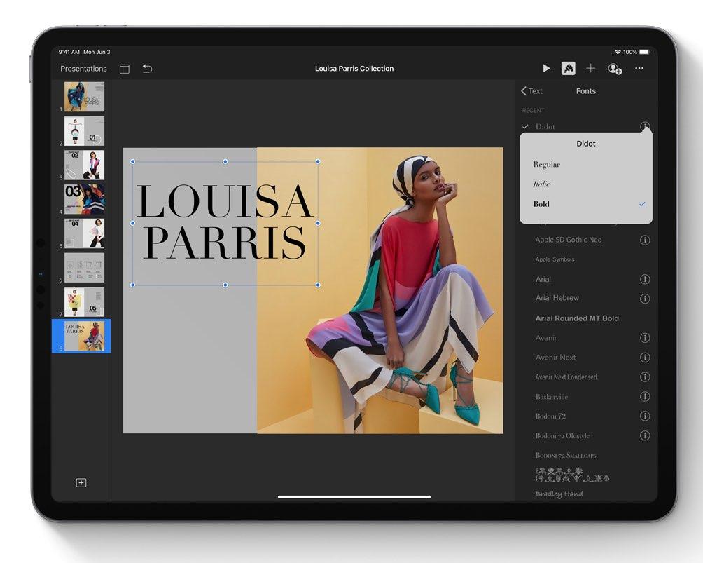 iPadOS lettertypes