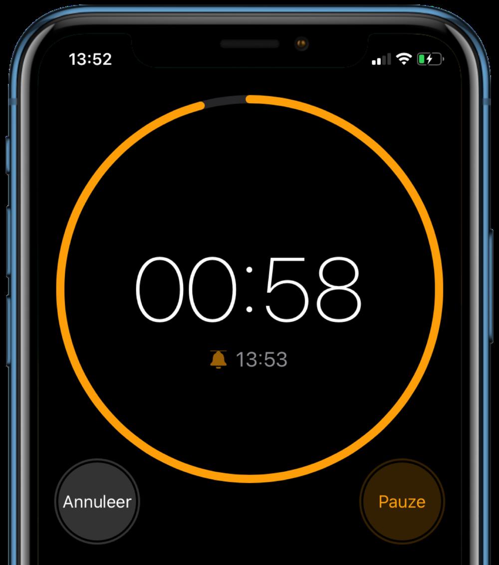 iOS 13 Timer vernieuwd.