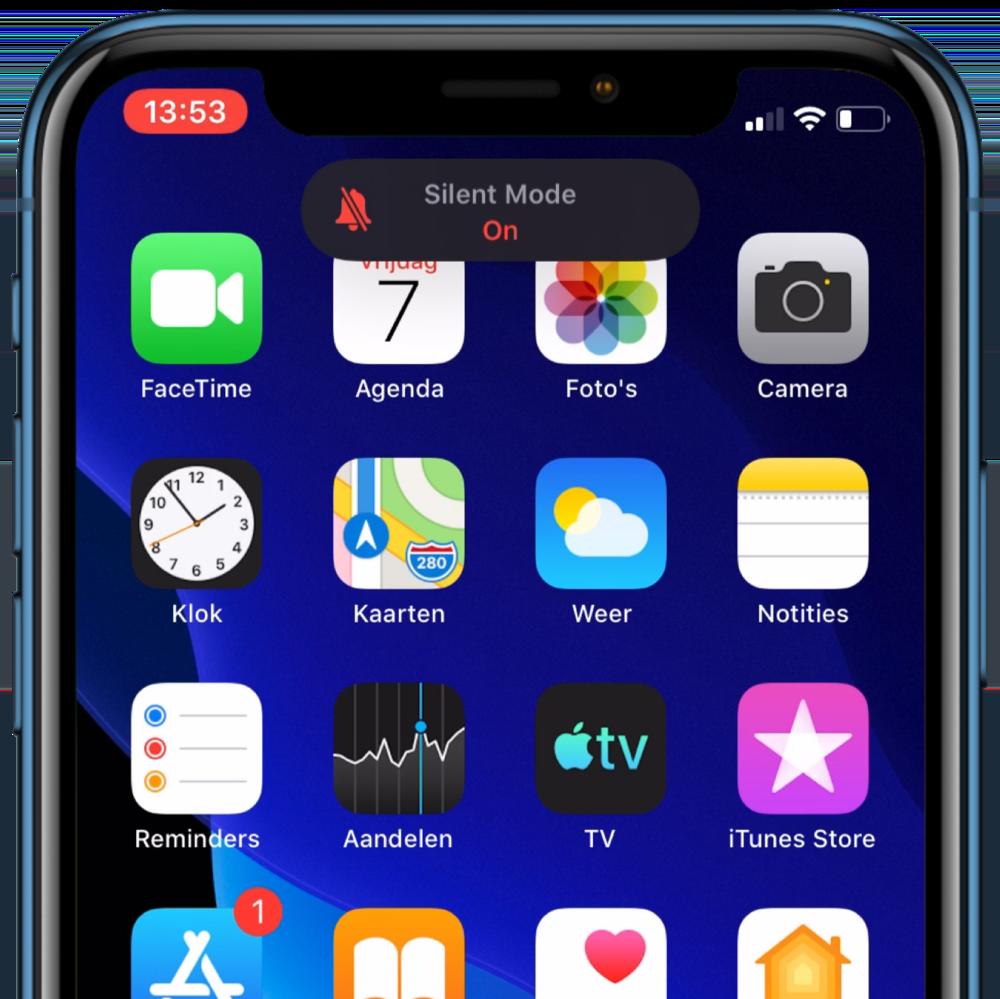 iOS 13 stil-melding.