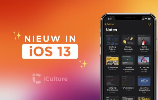 Nieuw in iOS 13.