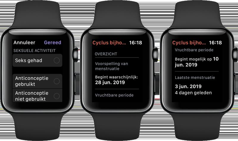Cyclus bijhouden op Apple Watch