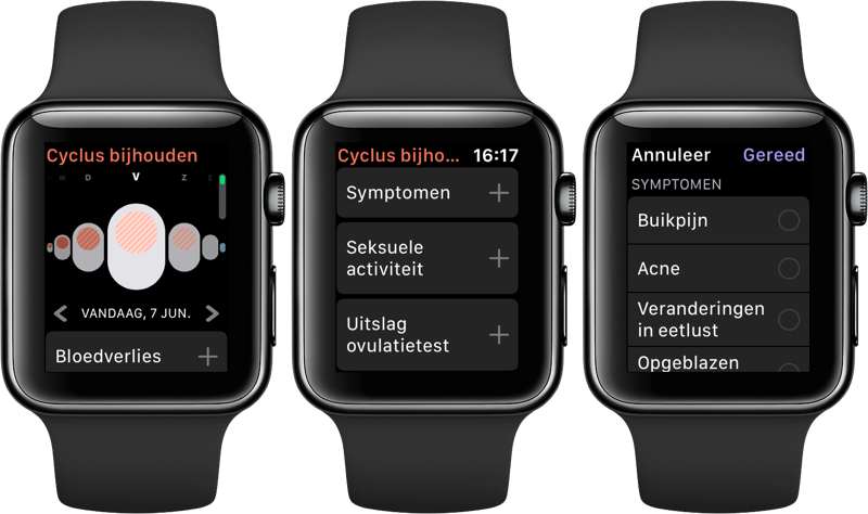 Cyclus bijhouden op Apple Watch