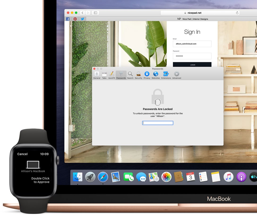 MacOS Catalina met Apple Watch