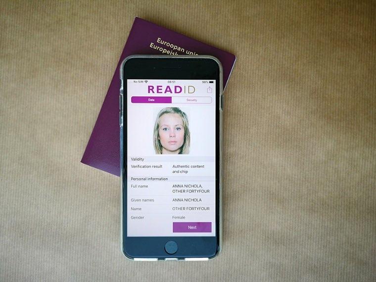 ReadID op iOS: paspoort scannen met NFC