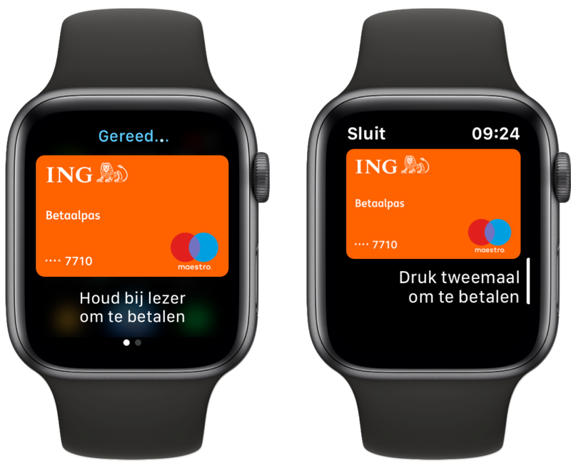 Apple Pay ING gebruiken op Apple Watch.