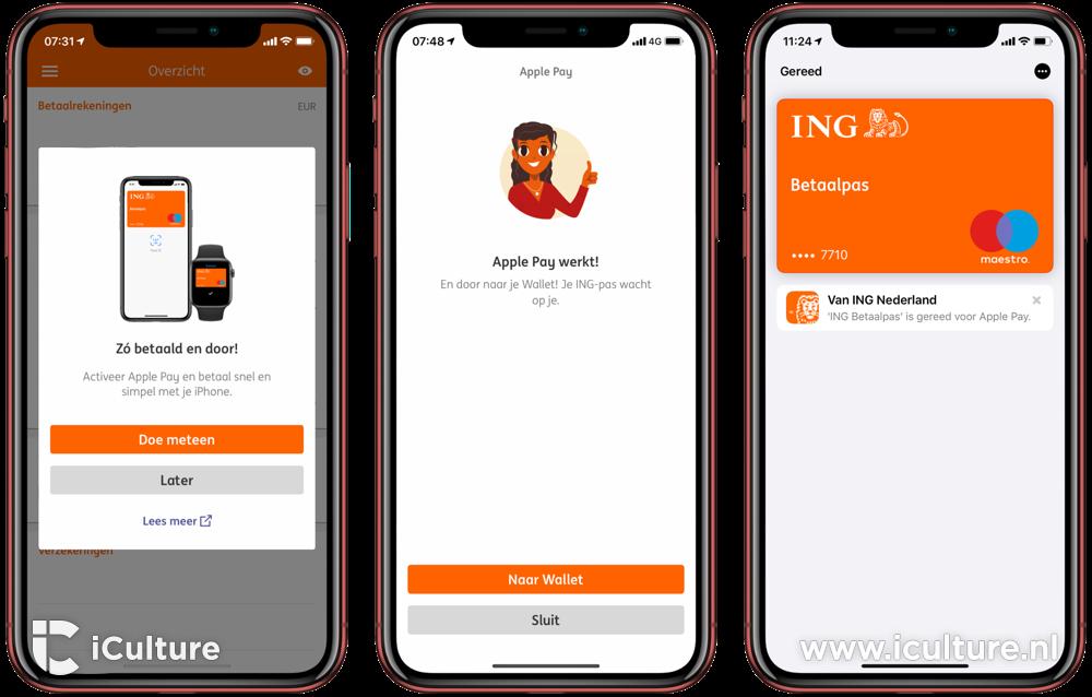 Apple Pay instellen bij ING.