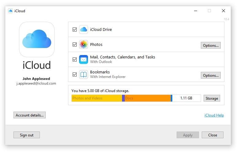 iCloud voor Windows