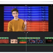 iMovie met green screen op iPad