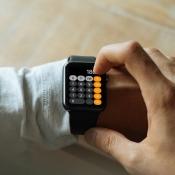 Rekenmachine op Apple Watch.