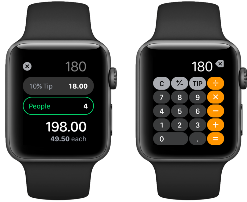 watchOS 6 rekenmachine.