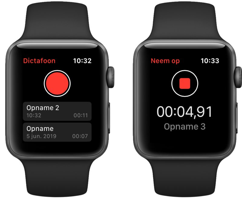 watchOS 6 dictafoon.