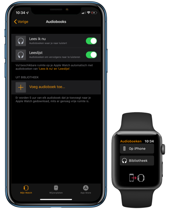 watchOS 6 audioboeken.