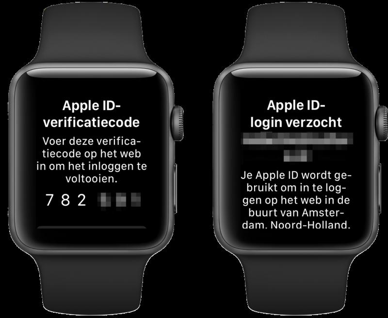 Verificatieberichten op Apple Watch.