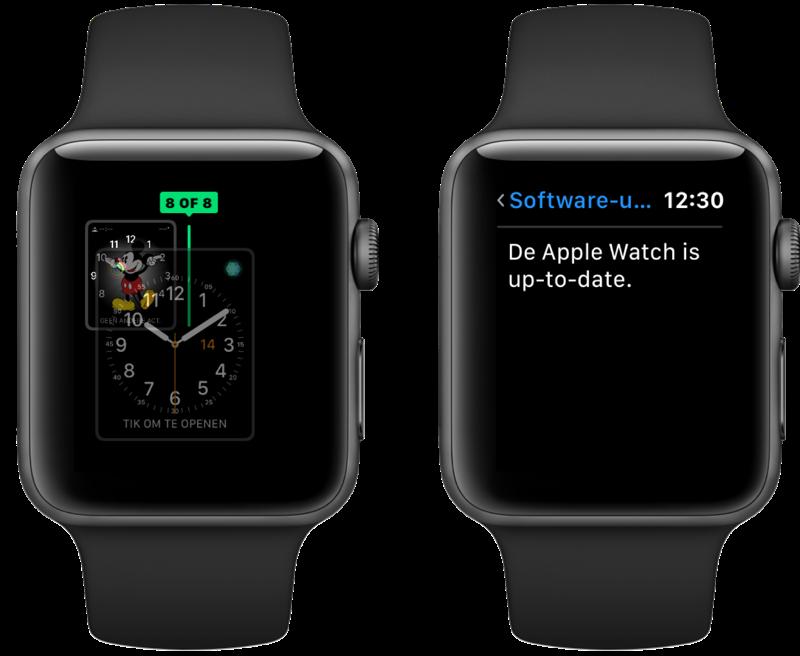 watchOS 6 wijzerplaten ordenen en software-update.