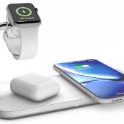 Zens Dual+Watch lader in wit met AirPods.