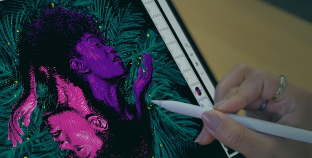 Adobe Fresco voor iPad.